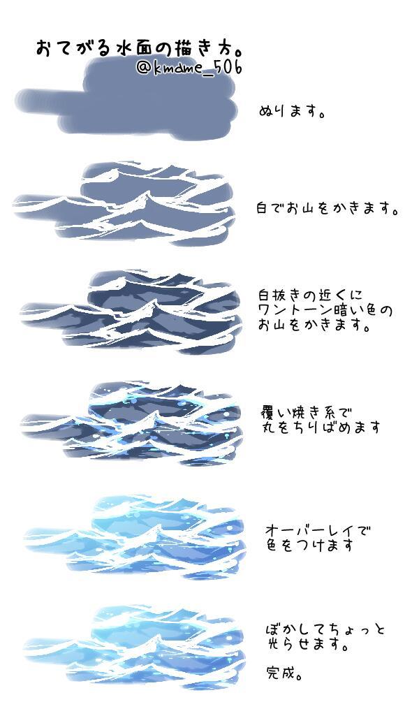 水面の描き方