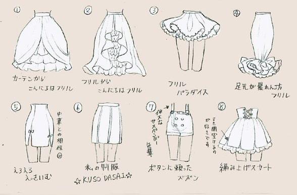 服装のデザイン方法や描き方をイラスト解説綺麗なリボンやワンピース
