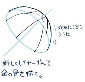 傘の描き方4