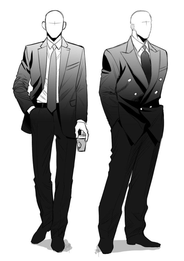 スーツの描き方3