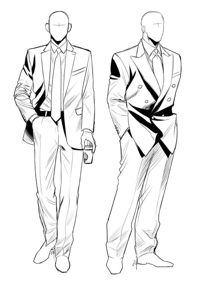 スーツの描き方4