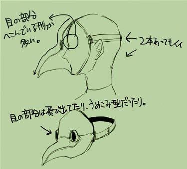 ペストマスクの描き方1