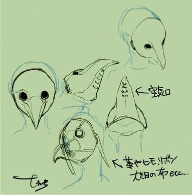 ペストマスクの描き方2