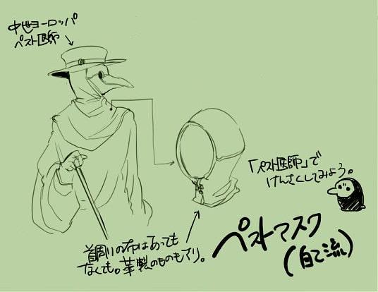ペストマスクの描き方4