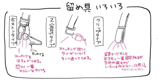 ガーターベルトの描き方5