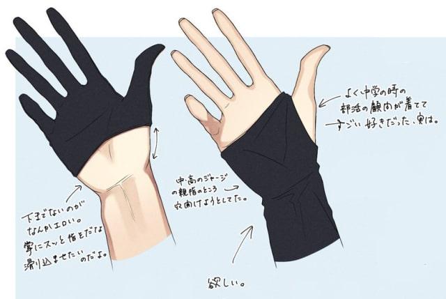 手袋と靴下のデザイン1