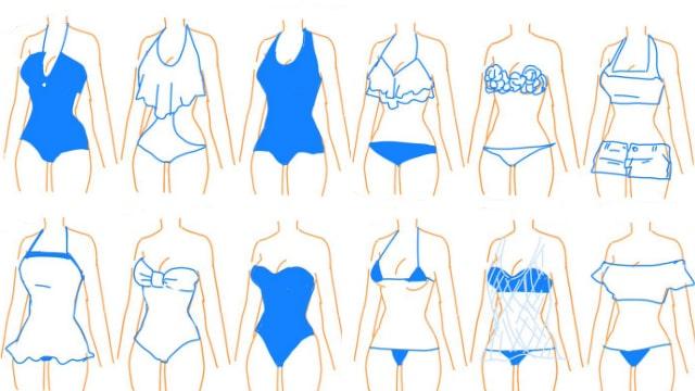 夏の水着の資料イラストで描き分け方を学ぼう!バンドゥやオフショル、パレオなど24種類をご紹介