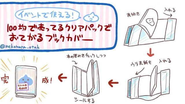 透明ブックカバーの作り方!同人誌の見本などにおすすめ。コミケ前でお急ぎの方に!