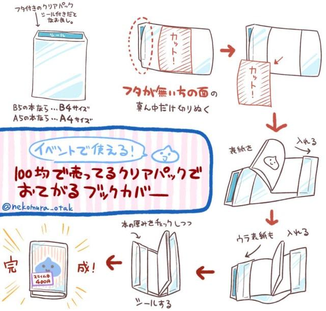 ブックカバーの作り方0