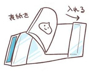 ブックカバーの作り方4