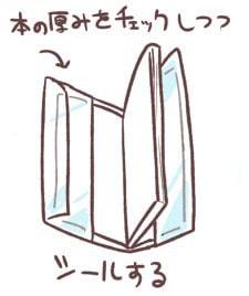 ブックカバーの作り方6