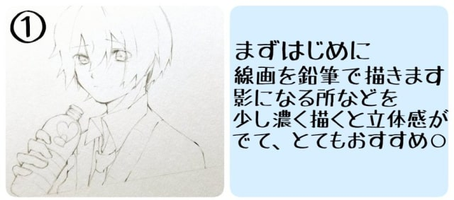 アナログ水彩キャラクターメイキング1