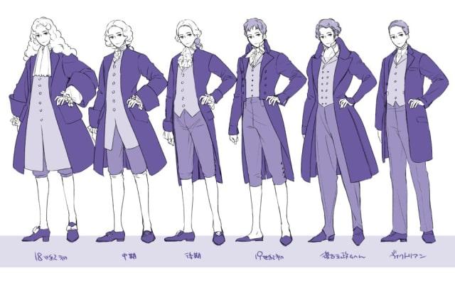 西洋の服の描き方3