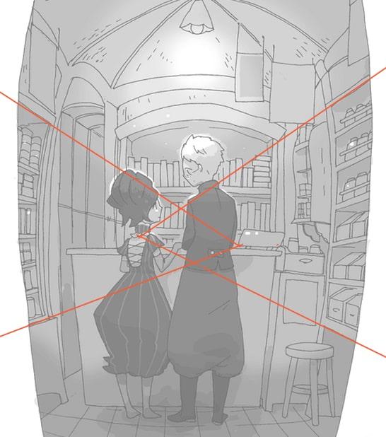 一点透視の絵を見栄え良く2