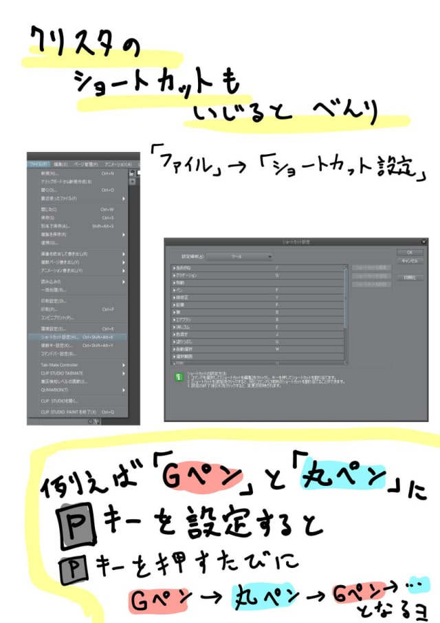 クリスタをショートカット操作switchのjoy Conを左手デバイス化して