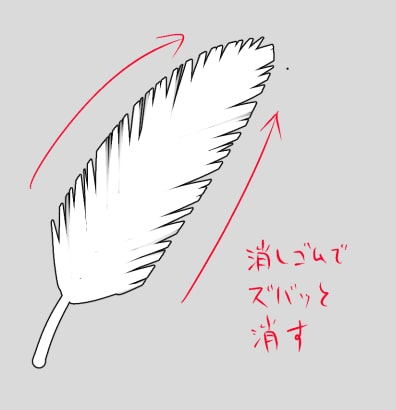 羽根の描き方1