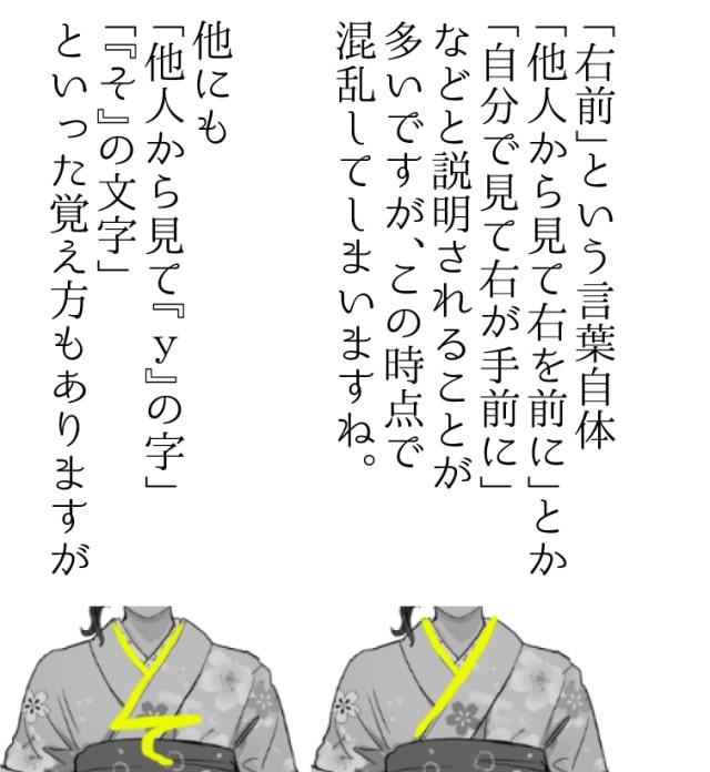 浴衣の着方の解説漫画7