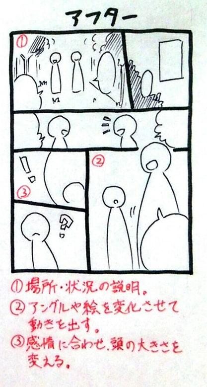漫画のコマ内キャラクターの描き方2