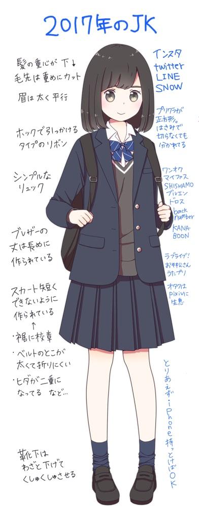 女子高生の描き方1