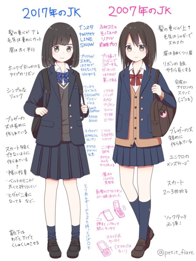女子高生の描き方3