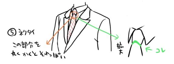 春のスーツの描き方3