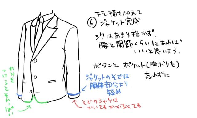 春のスーツの描き方4
