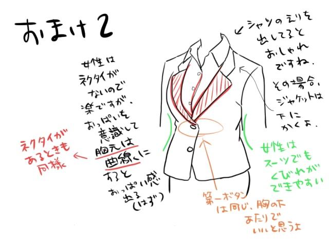 春のスーツの描き方10