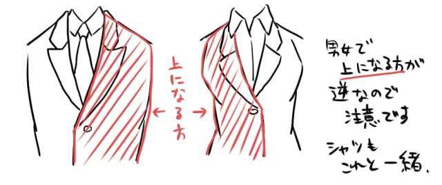 春のスーツの描き方11