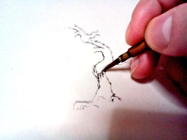 水墨画の描き方8