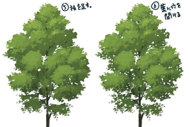 木のイラストの簡単な描き方短時間で描けるアナログ風の木や枝を描く