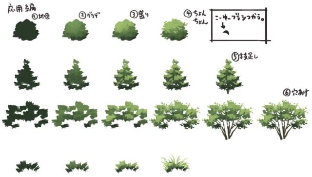 アナログ風の木の描き方5