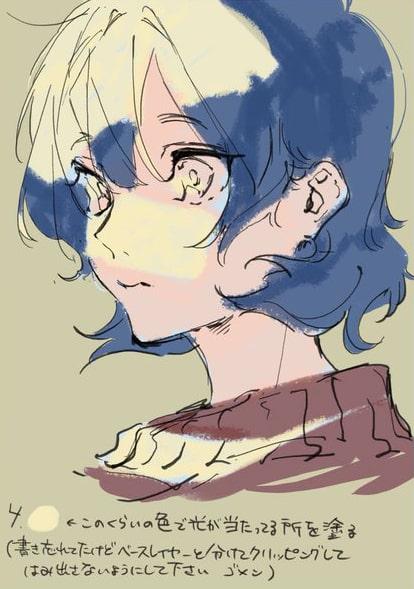 彩色豊かな顔の塗り方4