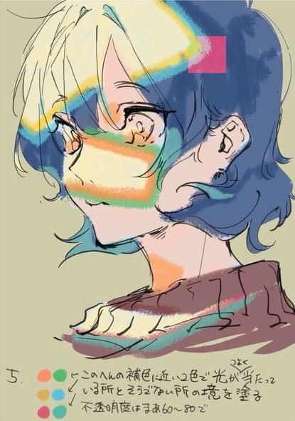 彩色豊かな顔の塗り方5