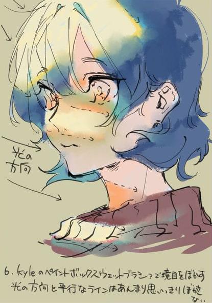 彩色豊かな顔の塗り方6