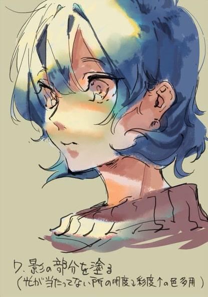 彩色豊かな顔の塗り方7
