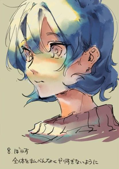 彩色豊かな顔の塗り方8
