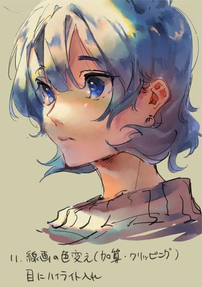 彩色豊かな顔の塗り方11