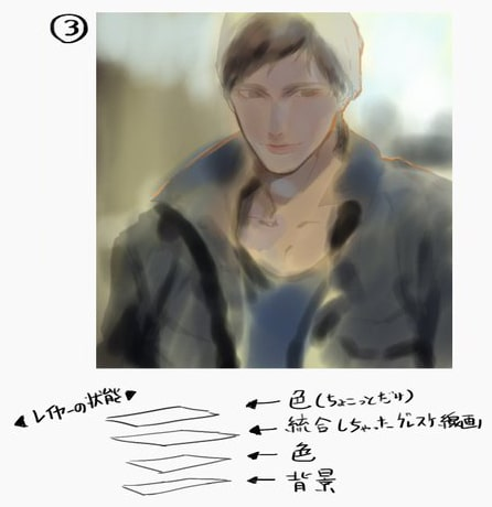 Photoshop厚塗りメイキング5