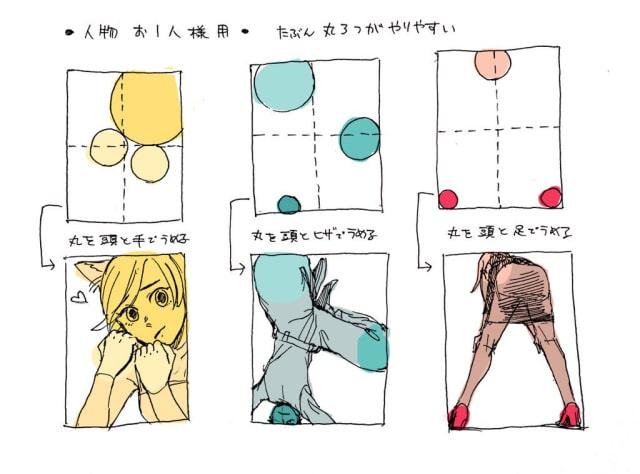 構図 ポーズの簡単な考え方をイラストでご紹介 構図が思いつかない ポーズをとるのが苦手な方にオススメです お絵かき図鑑