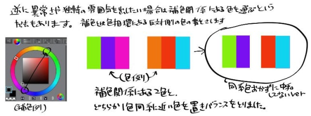 美しいイラストを描くための配色講座5