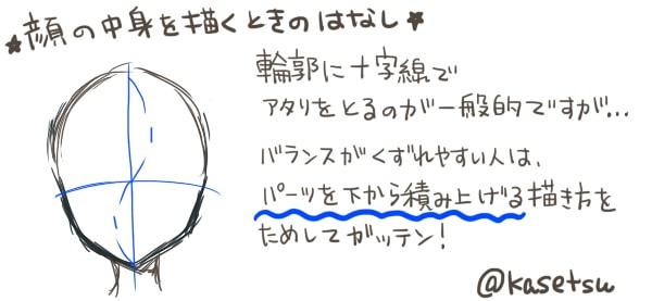 パーツ・バランスを意識した顔の描き方1
