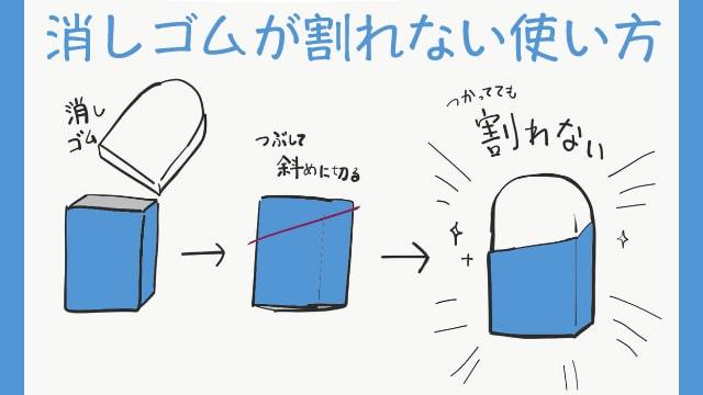 消しゴムのおすすめ画材テクニックをイラスト解説!消しゴムが割れない使い方とは?