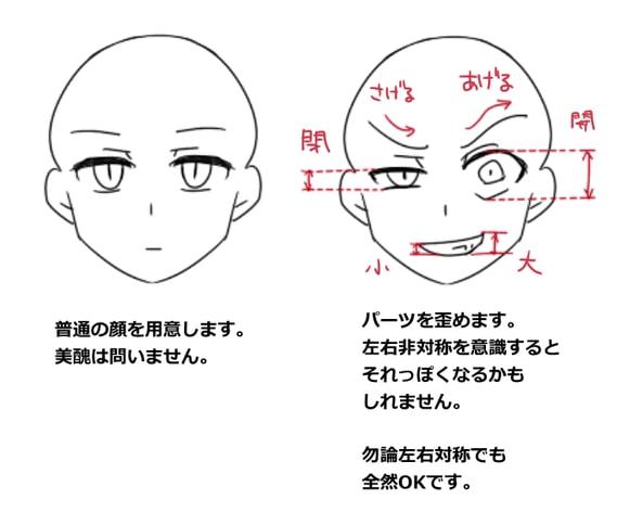 顔芸の描き方1