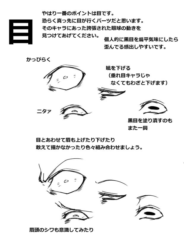 顔芸の描き方5