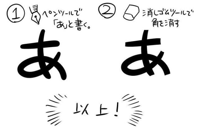 漫画の書き文字をデザインする2
