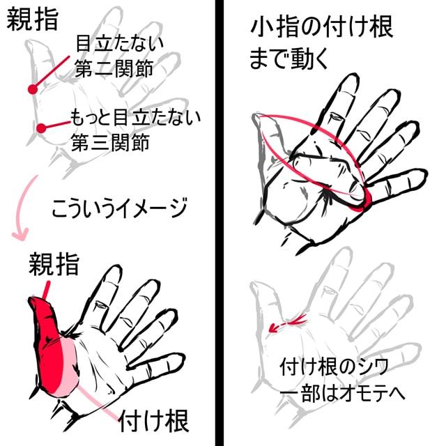 指・爪の描き方2