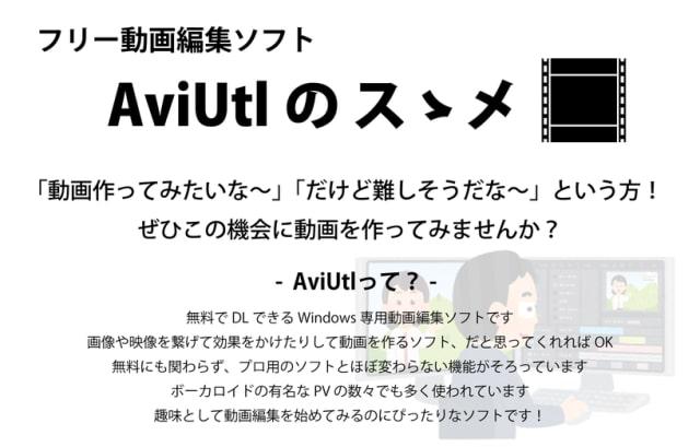 Aviutlの使い方1