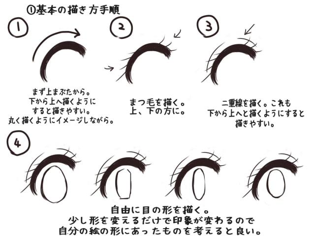 少女漫画の目の描き方2