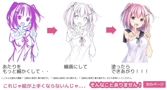 写真からポーズを描く方法4