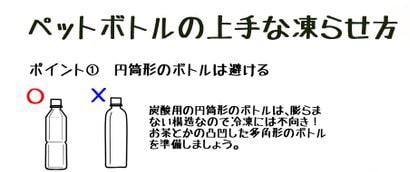 ペットボトルの凍らせ方1